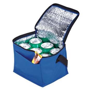 Picture of 6 Can Cooler with Foil Liner and Pocket - Non-Woven Foil Lining