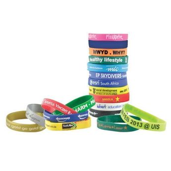 Picture of 12mm Printed Silicone Wrist bands