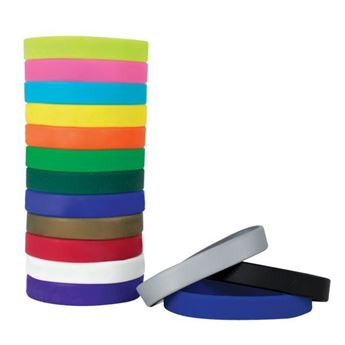 Picture of 20mm Unbranded Silicone Wrist bands
