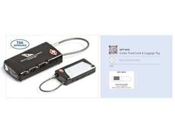 Picture of Codex Travel Lock & Luggage Tag