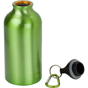 Picture of 400ml Aluminium Water Bottle with Carabiner Clip