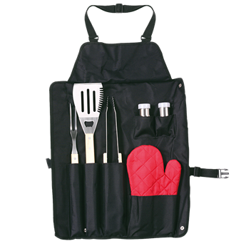 6 Piece Barbeque Set In Apron, BH2631