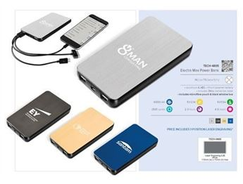 Electra Max Power Bank - 6000mAh, TECH-4805