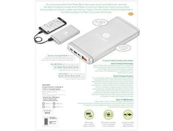 Flash Quick Charge & Type-C Power Bank - 8000mah, TECH-4907