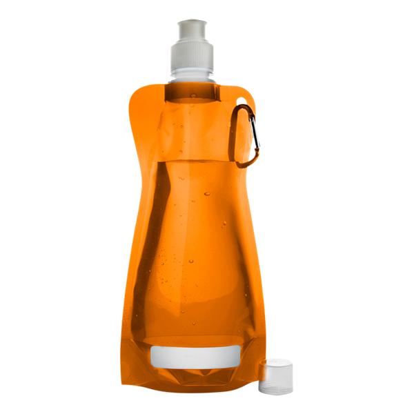 420ml Foldable Water Bottle With Carabiner Clip, BW7567