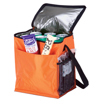 12 Can Cooler With 2 Exterior Pockets - 70D - PEVA Lining, BC0006