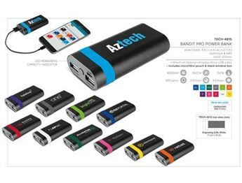 Bandit Pro Power Bank - 4000mAh, TECH-4815