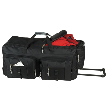 Dual Front Pocket Rolling Travel Duffel,BB0161