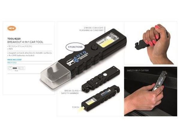 Breakout 4-In-1 Car Tool, TOOL-8220