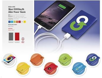 Maxi 4000mAh Slim Powerbank, IDEA-4113