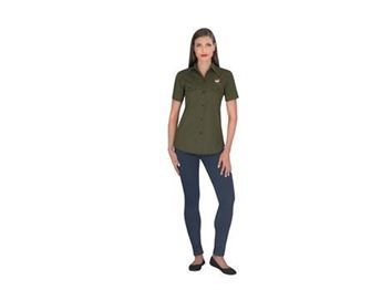 Ladies Short Sleeve Oryx Bush Shirt, ALT-OXLS