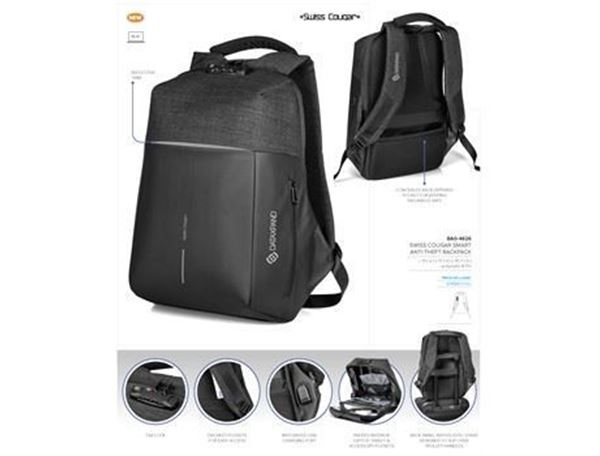 Swiss Cougar Smart Anti-Theft Backpack, BAG-4626
