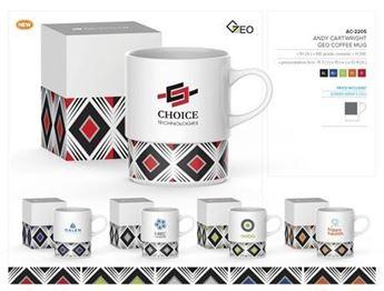 Andy Cartwright Geo Coffee Mug, AC-2205