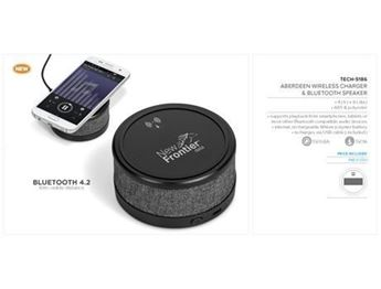 Aberdeen Wireless Charger & Bluetooth Speaker, TECH-5186