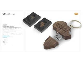 Andy Cartwright Afrique Wood Memory Stick, AC-2265