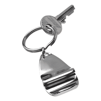 Stylish Metal Bottle Opener Keychain, BK8659