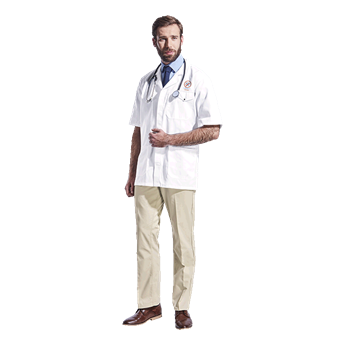 All-Purpose Short Sleeve Lab Coat, LAB-ALL