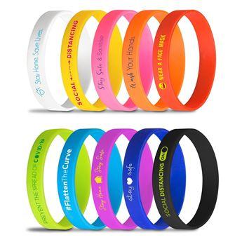 Fitwise Silicone Adult Wristband, Silicone Wrist Band, IDEA-0320