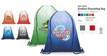 Gradient 210D Drawstring Bag, IDEA-52550