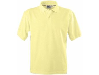Picture of Crest Mens Golf Shirt - Yellow & Brown Only