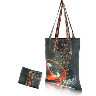 Indigo Full Colour Foldable Shopper, BAG015