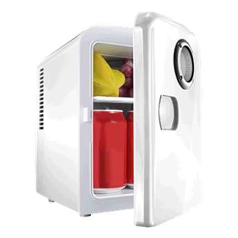 6 Can Mini-Fridge With Built In Bluetooth Speaker, BC0049