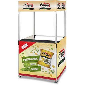 Ovation Gazebo 1M X 1M Kiosk 3 Half-Wall Skins, DISPLAY-2004