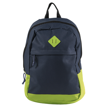 600D Backpack With Zippered Front Pocket, BB7945
