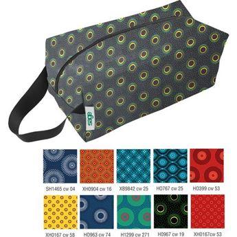 Shweshwe Spruce Toiletry Bag, SHWE068